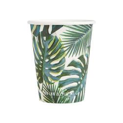 Pappbecher Tropical Fiesta Palm Leaf 8 Stück