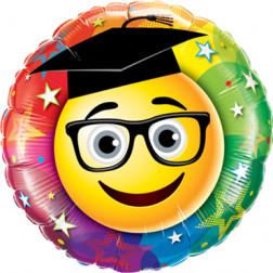 Folienballon Smiley Graduate 45cm