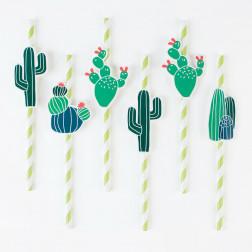 Cactus Paper Straws 12 Stück