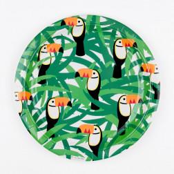 Paper plates Toucan 8 Stück