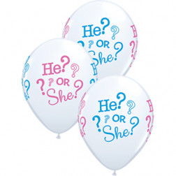 Latexballons He? or She? 5 Stück