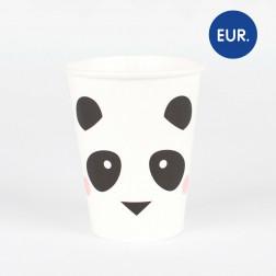 Pappbecher mini Panda 8 Stück
