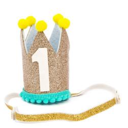1st Birthday Gold Crown
