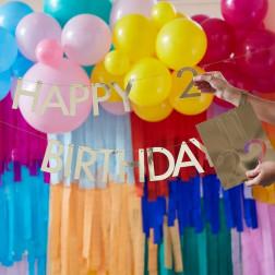 Gold Customisable Happy Birthday Bunting Banner