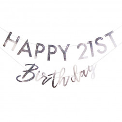 Iridescent Customisable Birthday Milestone Bunting