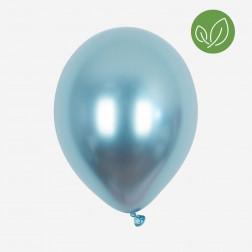 Luftballons chrome blue 5 Stück