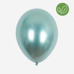 Luftballons chrome green 5 Stück