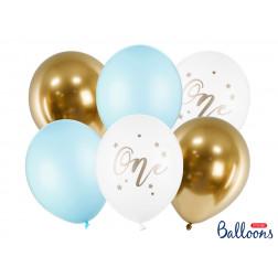 Luftballons One Blue 6 Stück