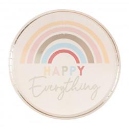 Pappteller Happy Everything Rainbow 8 Stück