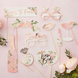 Photo Booth Floral Hen Party 10 Props