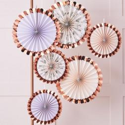Fächer Pastel Floral 6 Stück