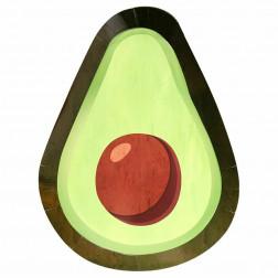 Pappteller Avocado 8 Stück