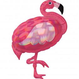 Folienballon Flamingo Iridescent Pink 89cm