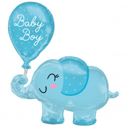 Folienballon Baby Boy Elephant 78 cm