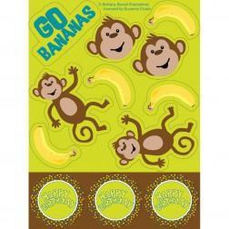 Monkey - 4 Bogen mit Stickers