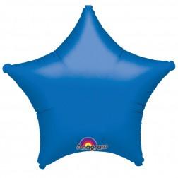 Stern Folienballon Blau 48cm