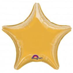 Stern Folienballon Gold 45cm