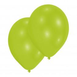 Luftballons Metallic Lime 10 Stück
