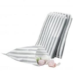 Papiertüten - weiß, silber 25Stück