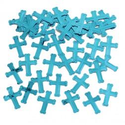 Konfetti Kreuze blau 14g