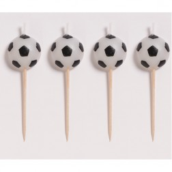 Mini Kerzen Fußball 4 Stück