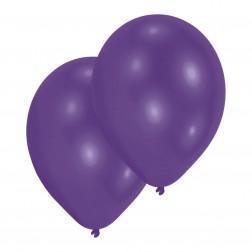 Luftballons Metallic Purple 10 Stück