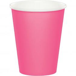 Pappbecher Pink 8 Stück