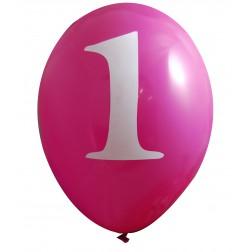 Luftballons Rosa 1. Geburtstag