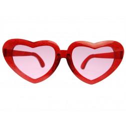 Brille Herz rot