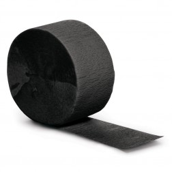 Krepprollen schwarz 24,6m