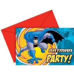 Batman Einladungskarten 6Stück