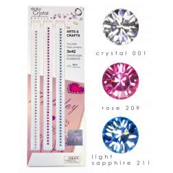 easy Crystal Nachfüllstreifen mit original Swarovski Kristallen für Papier & Basteln