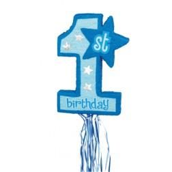 Pinata 1. Geburtstag blau