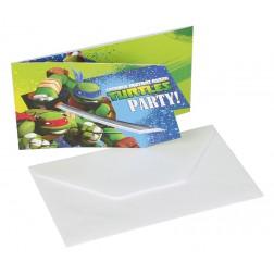 Ninja Turtles Einladungskarten 6 Stück