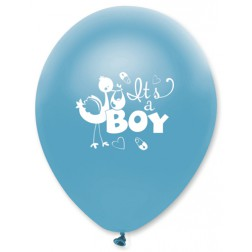 Luftballons Storch It s a Boy 6 Stück