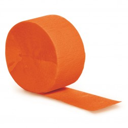 Krepprollen orange 24,6m