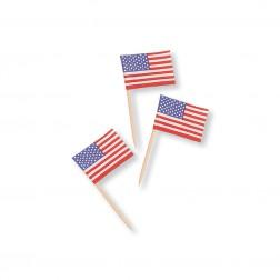Amerika Party Picks 30 mini Flaggen