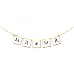 Wedding Banner Mr and Mr 64cm