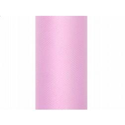 Tischläufer aus Tüll rosa 30cm x 9m