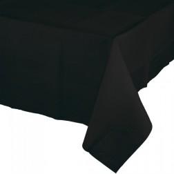 Papier Tischdecke Schwarz 137 x 274cm