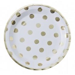Pappteller Pick and Mix Polka Dots 8 Stück