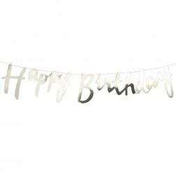 Gold Happy Birthday Buchstaben Banner 1,5m
