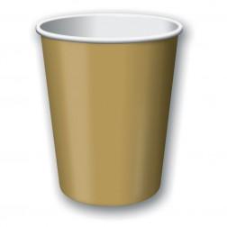 Pappbecher Gold 24 Stück