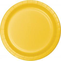 Pappteller Gelb 8 Stück