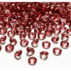 Konfetti Diamond rot 12mm