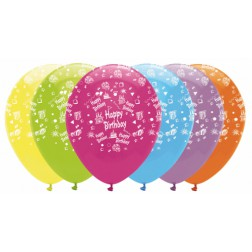 Happy Birthday Ballons Mix 6 Stück