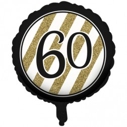 Folienballon Black Gold 60. Geburtstag