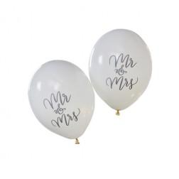 Mr & Mrs Luftballons 10 Stück