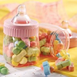 Rosa mini Baby Flaschen 6 Stück