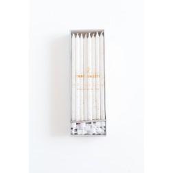 Kerze Weiß Gold 24 Stück 14cm